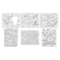 Iwata Artool Freehand Template - Set of 6, Wrath of Skull Master Mini