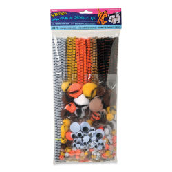 Darice Pom Pom and Chenille Craft Kit - Striped