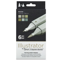 Spectrum Noir Illustrator Markers - Neutral Colors, Set of 6
