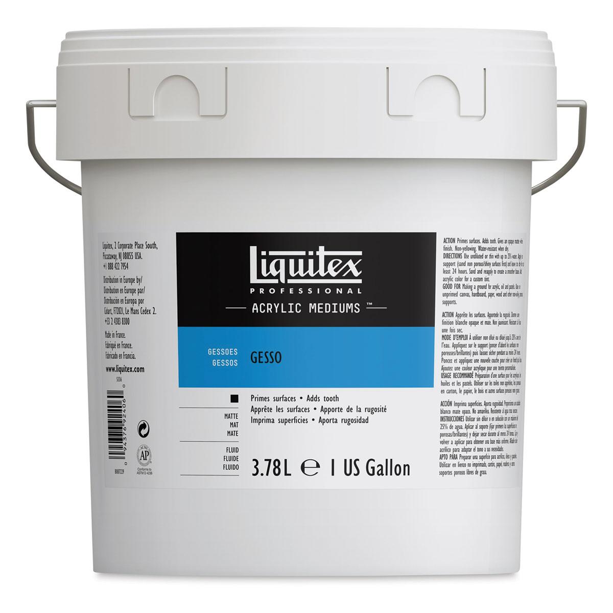Liquitex Acrylic Gesso - White, Gallon