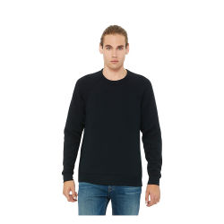 Bella + Canvas Unisex Sponge Fleece Drop Shoulder Sweatshirt - Black, Large