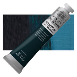 Winsor & Newton Winton Oil Color - Phthalo Deep Green, 200 ml, Tube with Swatch