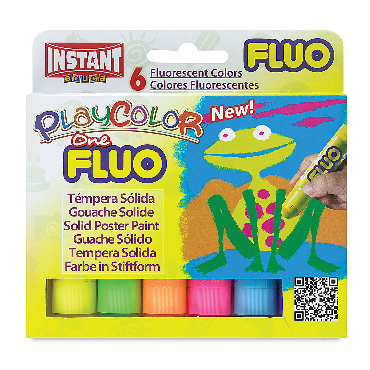 Playcolor - Fluorescent Colors, Set of 6, Standard Size