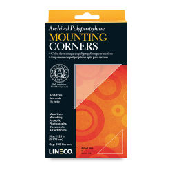 Lineco Mounting Corners - 1-1/4'', Clear, Box of 256