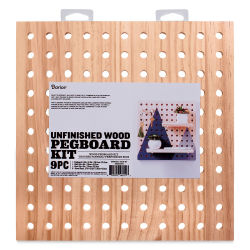 Darice Wood Pegboard System Kit - Square Kit, 9 Pieces