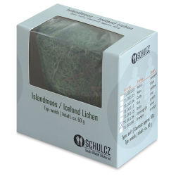 Schulcz Scale Model Foliage - Icelandic Lichen Moss, Olive Green, 50 g (front of box)