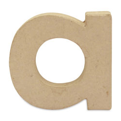 "DecoPatch Paper Mache Small Kraft Letter - A, Lowercase, 3-1/2"" W x 3-2/5"" H x 1/2"" D"