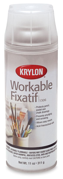 Krylon Workable Fixative - 11 oz, Matte, Spray Can