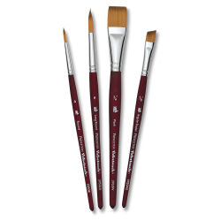 Princeton Velvetouch Series 3950 Synthetic Brushes - Set of 4