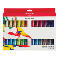 Amsterdam Standard Series Acrylics - Set of 24 colors, 20 ml tubes (In packaging)