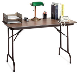 Correll Melamine Folding Table - Fixed Height, 24'' x 48'' x 29''
