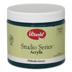 Utrecht Studio Series Acrylic Paint - Phthalo Green, Pint