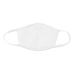 Bella Canvas Adult Reusable Face Mask - Solid White, S/M
