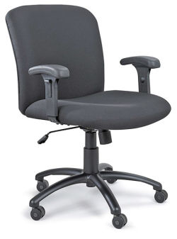 Safco Uber Chair - Black, Mid-Back