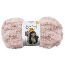 Lion Brand Go For Faux Thick And Quick Yarn - Pink Poodle, 24 yds