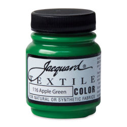 Jacquard Textile Color - Apple Green. 2.25 oz jar