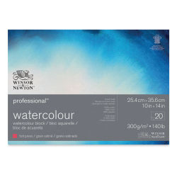 "Winsor & Newton Professional Watercolor Block - 10"" x 14"", Hot Press"