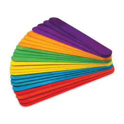"Krafty Kids Colored Craft Sticks - Extra Jumbo, 1"" W x 7-7/8"" L, Assorted Colors, Package of 24"
