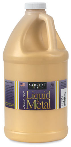 Sargent Art Metallic Acrylic - Gold, 64 oz bottle