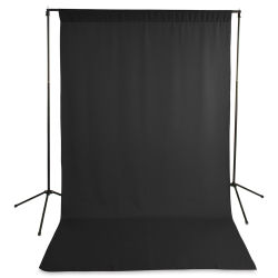 Savage Wrinkle-Resistant Economy Solid Background Kit - Black, 5 ft x 9 ft