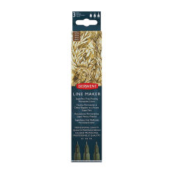 Derwent Line Makers - Sepia, Pkg of 3