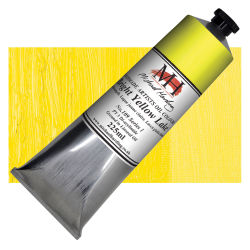 Michael Harding Artists Oil Color - Bright Yellow Lake, 225 ml tube