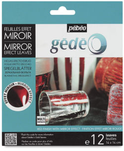 Pebeo Gedeo Mirror Effect - Red Leaf, 12 Sheets