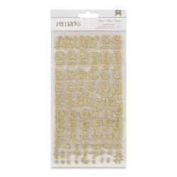 American Crafts Sticker Sheets - Gold Glitter