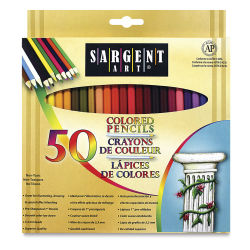 Sargent Art Colored Pencils - Assorted Colors, Set of 50