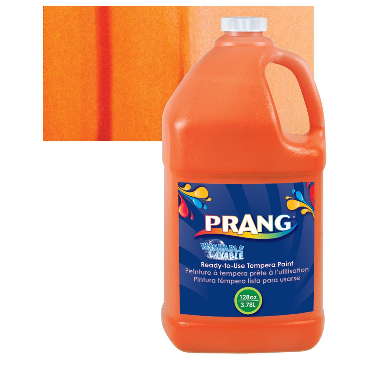 Prang Ready-To-Use Washable Tempera Paint - Orange, Gallon
