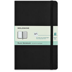 "Moleskine Classic Notebook - Music Notebook, 8-1/4"" x 5"", 192 Pages"