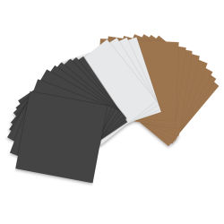 Sizzix Paper Leather Sheets - Assorted Basics, Pkg of 20, 6'' x 6''