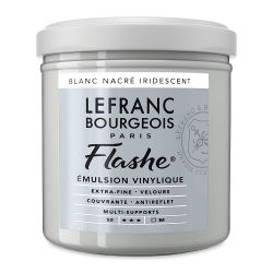 Lefranc & Bourgeois Flashe Vinyl Paint -  Iridescent Pearl White, 125 ml jar
