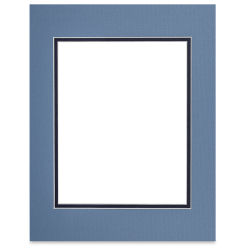 Blick Double Mat - Biscay Blue / Newport Blue, 11'' x 14'' (7-1/2'' x 9-1/2'' Opening)