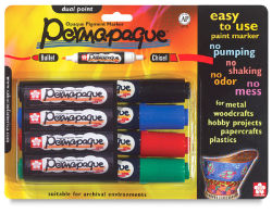 Sakura Permapaque Opaque Paint Marker Set - Dual Point, Set of 4