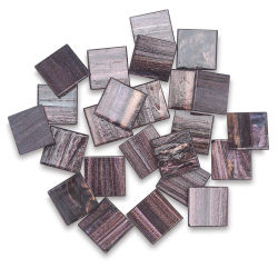 Mosaic Mercantile Metallic Glass Tiles - 3/4'', Nightscape, Pkg of 24