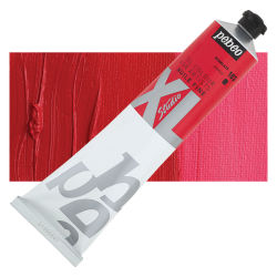 Pebeo XL Studio Oil Color - Scarlet, 200 ml, Swatch with Tube
