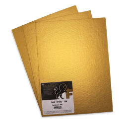 Fredrix Metallic Cut Edge Canvas Panels - Gold, Pkg of 3