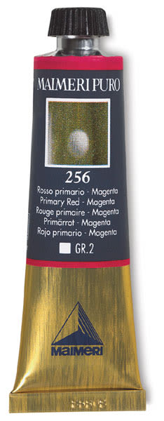 Maimeri Puro Oil Color - Primary Red - Magenta, 40 ml tube
