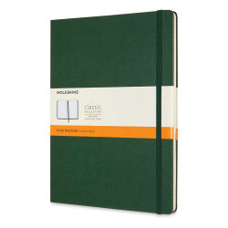 "Moleskine Classic Hardcover Notebook - Metallic Green, Ruled, 9-3/4"" x 7-1/2"""
