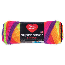 Red Heart Super Saver Yarn-Bright Stripe
