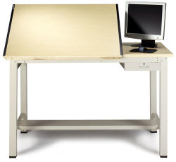 Ranger Drawing Table with Tool Drawer, Split-Top, Small
