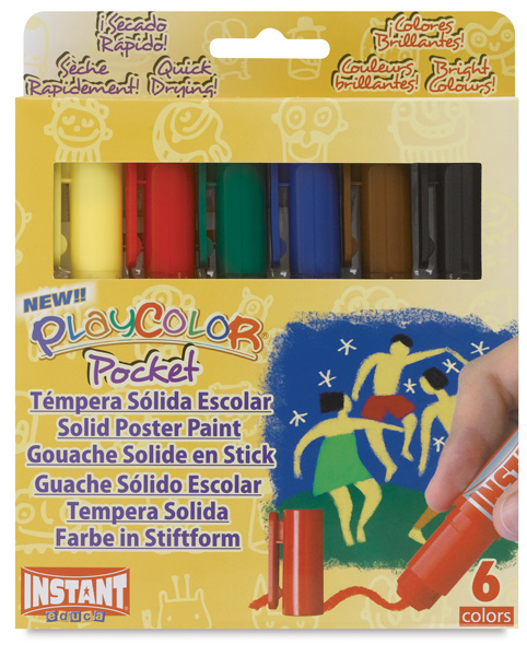 Playcolor - Standard Colors, Set of 6, Pocket Sized