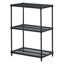 Design Ideas MeshWorks Shelving Units - Black, 3-Tier