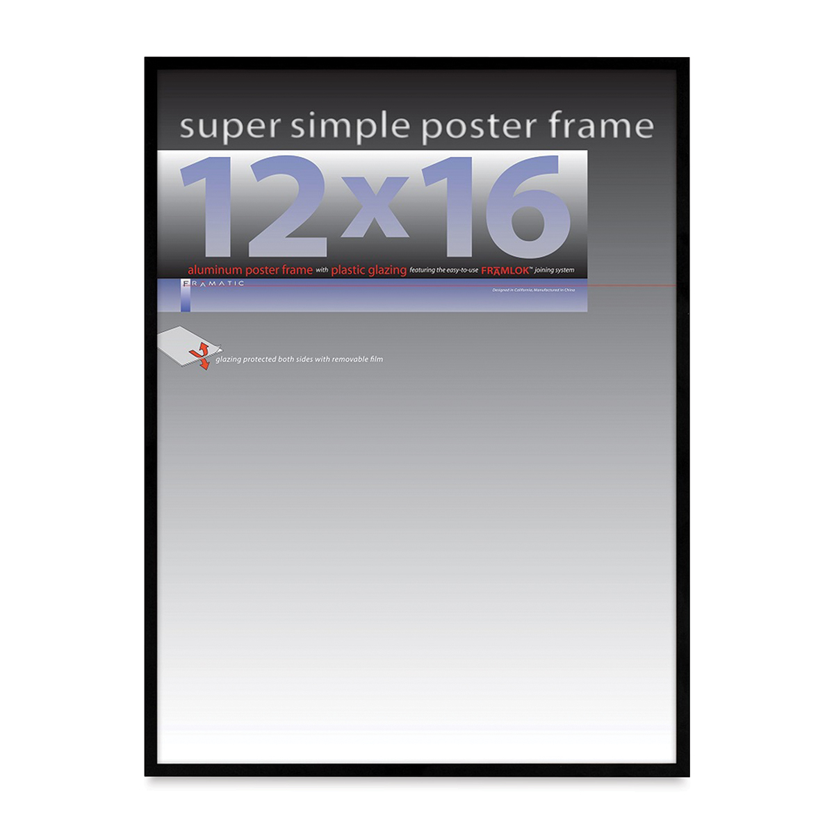 Framatic Super Simple Poster Frame - Black, 12 x 16