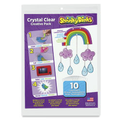 Shrinky Dinks Shrinkable Plastic - Crystal Clear, Pkg of 10