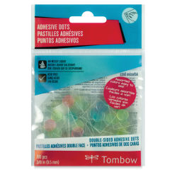 Tombow Color Adhesive Dots - Pkg of 100, Assorted Colors