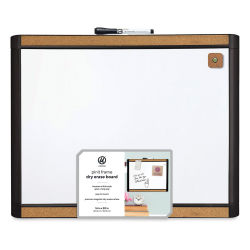 U Brands Combo Dry Erase Board - Pin-it Black Frame