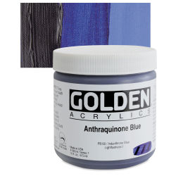 Golden Heavy Body Artist Acrylics - Anthraquinone Blue, 16 oz Jar