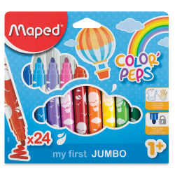 Maped Color'Peps My First Jumbo Markers - Pkg of 24